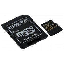 MICRO SDHC 16GB KINGSTON CLASS 10 SD ADAPTER - SDCG 16GB