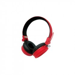 CUFFIE HEADPHONES VULTECH HD-03R ROSSO SUPER BASS CON MICROFONO E REGOLATORE VOLUME