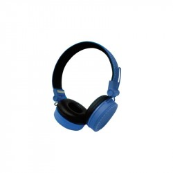 CUFFIE HEADPHONES VULTECH HD-03B BLU SUPER BASS CON MICROFONO E REGOLATORE VOLUME